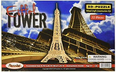 3D Natural Wood Puzzle - Eiffel Tower