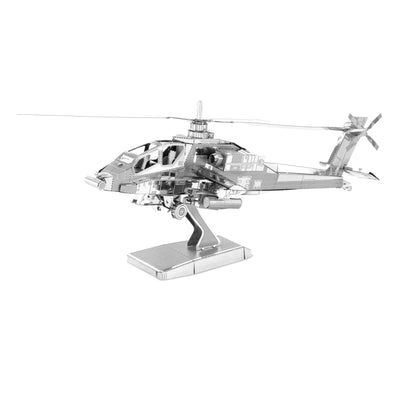 AH-64 Apache Boeing Helicopter Metal Earth 3D Metal Puzzle