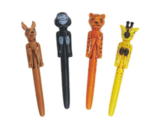 Aryellys Novelty Jungle Animals Boxing Pen 4 pack Set