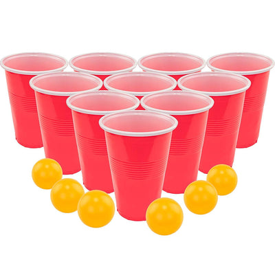 Beer Pong Set, 24 Red Cups and Ping Pong Balls.
