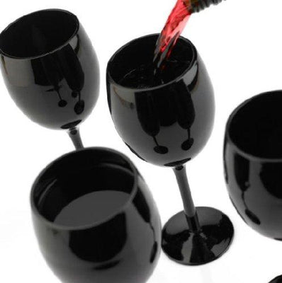 Black Wine Glasses - Set of 4