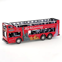 Fascinations Metal Earth Big Apple Tour Bus 3D Metal Model Kit