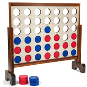 Giant Connect four in a Row Wood Stained with Carrying Case 3 x 2 ft - 4 in a Row