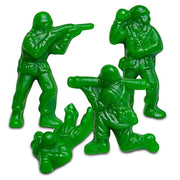 Green Apple Gummy Green Army Men Bulk  (1 Pound)