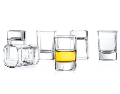 Heavy Base Shot Glass Set, 2-Ounce Shot Glasses 6-Pack