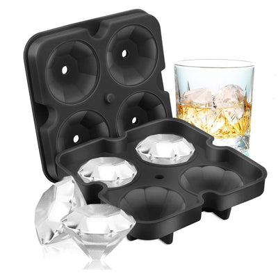 Ice Cube Trays Shaped Fun Ice Cube Molds BPA Silicone Flexible Ice Maker for Chilling Whiskey Cocktails