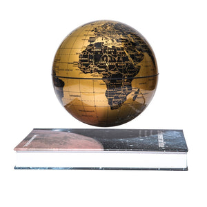 "Magnetic Levitation 6"" Floating Gold Globe with  Book Style Platform"