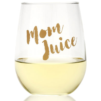 Mom Juice Wine Glass  Funny Gift for Wine Lovers 17oz