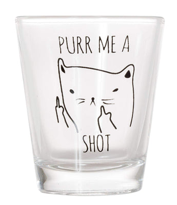 Purr Me a Shot Glasses Funny Cat Shot Glass