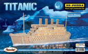 Puzzled 3D Natural Wood Puzzle - Titanic