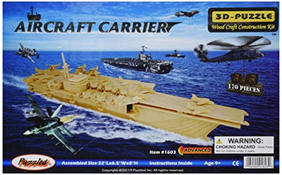 Puzzled Aircraft Carrier 3D Puzzle