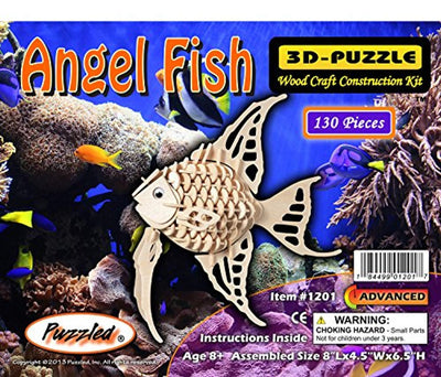 Puzzled Angel Fish 3D Wood Puzzle