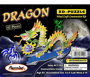 Puzzled Colorful Dragon 3D Wood Puzzle