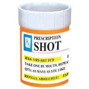 Shot Glass - Novelty Prescription Pill Bottle - 2 oz Funny Shot Glasses