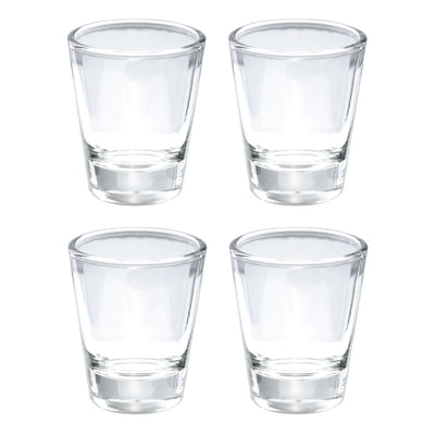 Shot Glass with Heavy Base, Clear Glass, Set of 4