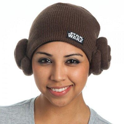 Star Wars Princess Leia Hair Buns Knit Beanie