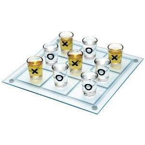 Tic Tac Toe Glass Drinking Game