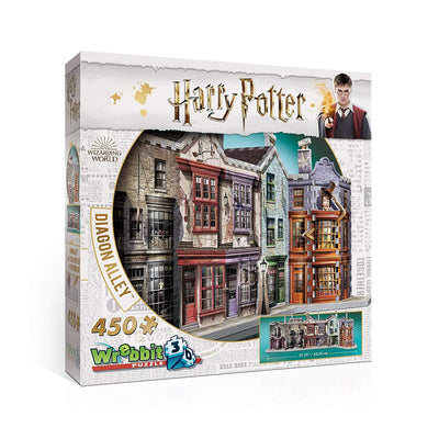 WREBBIT 3D Harry Potter Diagon Alley 3D Jigsaw Puzzle (450 Pieces)