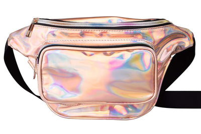 Women Waist Pack Holographic Shiny Fanny Pack Fashion Bum Bag