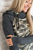 Double Hoodie- Camo Accent