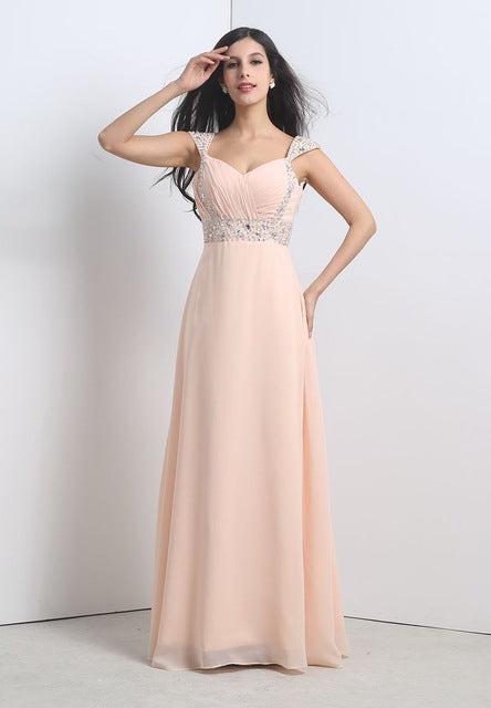 Evening Dress Formal Long Evening Event Dresses Beading Prom Chiffon
