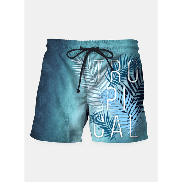 Tropical Typo Shorts - Pop Iconic
