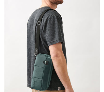 Villager Supplies 3UP Nintendo Switch sling bag can be worn in portrait mode
