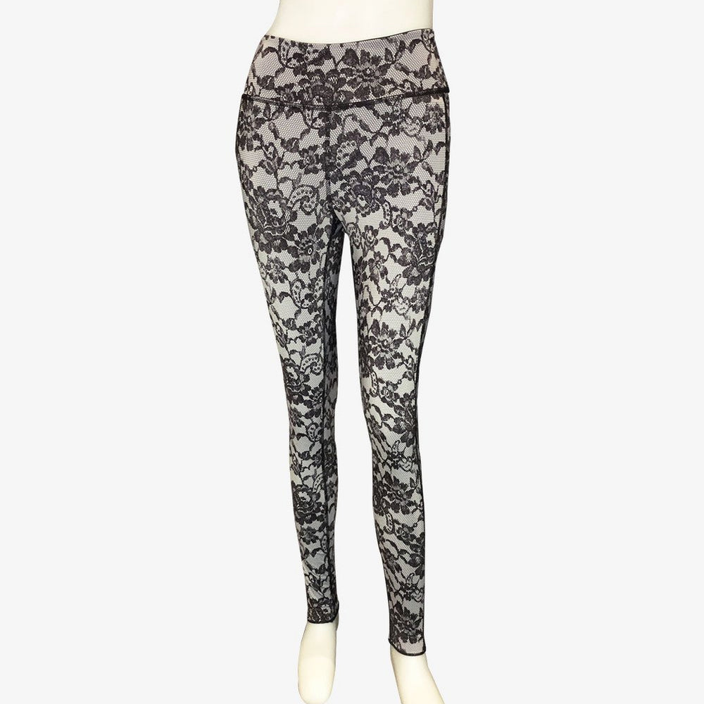 LEGGINGS BLACK LACE/BLACK