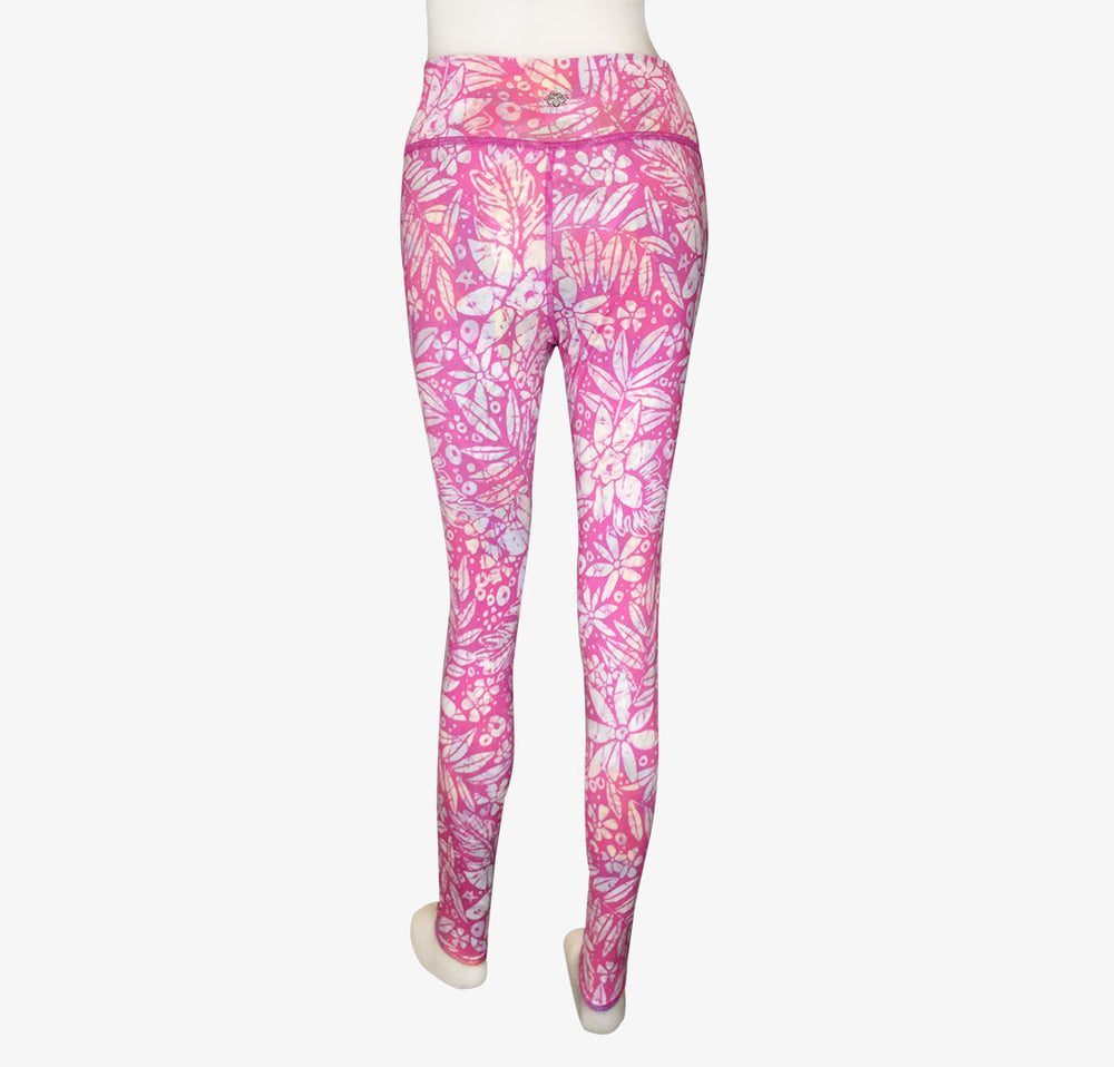 LEGGINGS VINTAGE PINK HAWAII/PINK BATIK