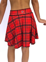 SKIRT/COVERUP RED GEISHA/RED PLAID