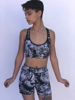 SPORTS BRA CRISSCROSS WHITE TIGER/DNOW LEOPARD