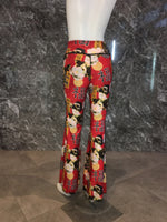 BELL BOTTOMS RED GEISHA/RED PLAID  (long length)