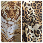 SKIRT/COVERUP BROWN TIGER/LEOPARD