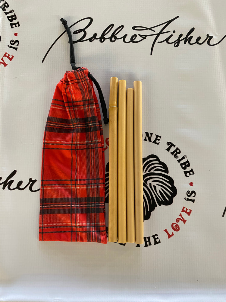 BAMBOO STRAWS WITH CUSTOM POUCH