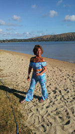 BELL BOTTOMS VINTAGE BLUE HAWAII/OCEAN BLUE(long length)
