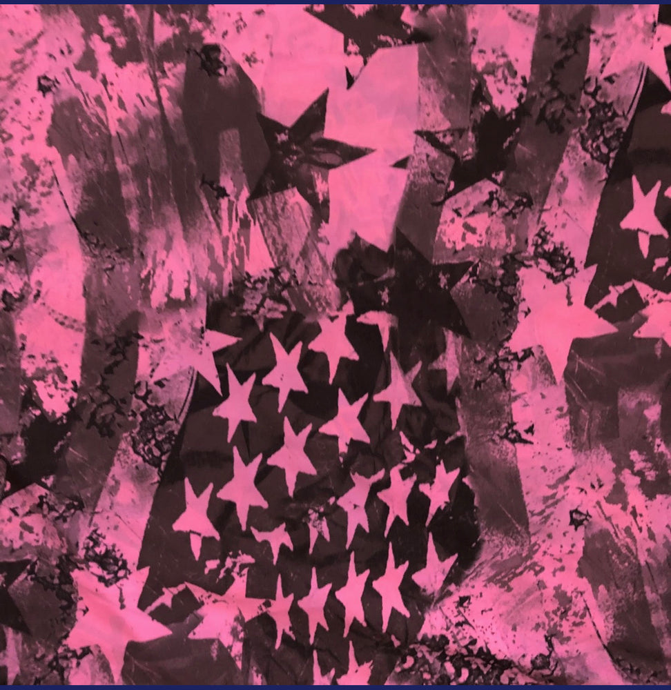 LEGGINGS PINK GRAFFITI/ PINK STARS (low rise)