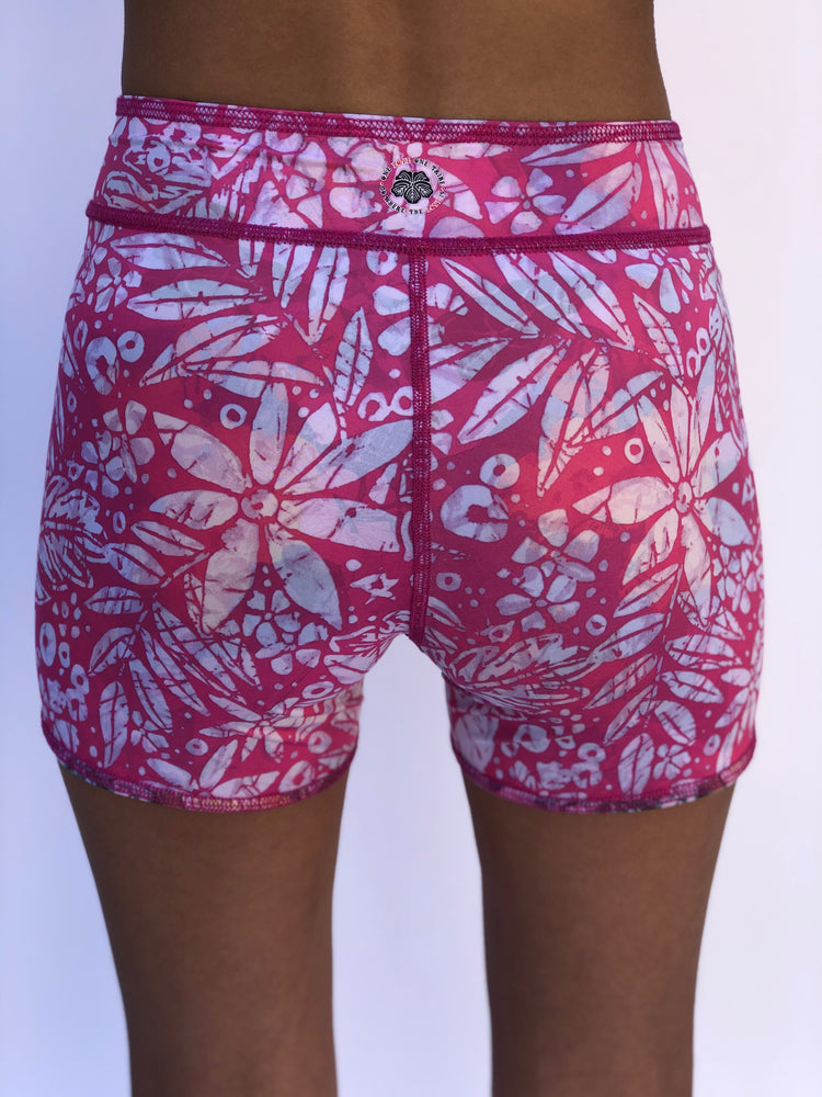 UNISEX BIKE SHORTS VINTAGE PINK HAWAII/PINK BATIK