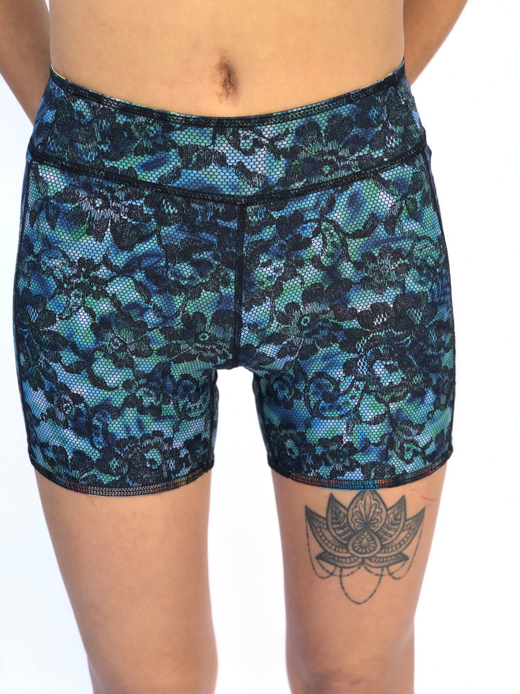 BOYS SHORTS LOW RISE BLUE LACE/1950'S HAWAII
