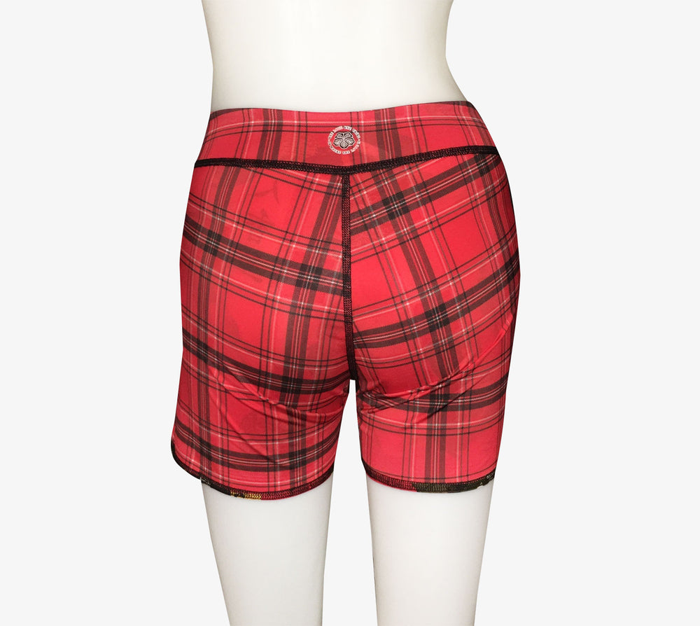 BOYS SHORTS RED GEISHA/RED PLAID
