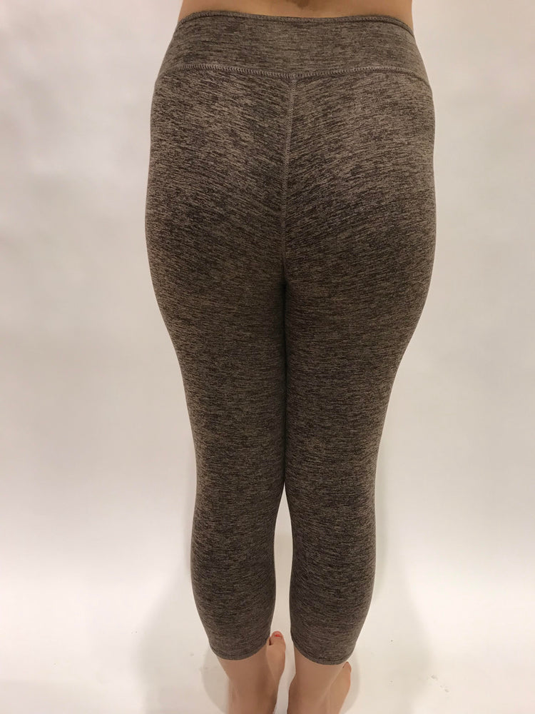 Brown Microfiber Capris Leggings