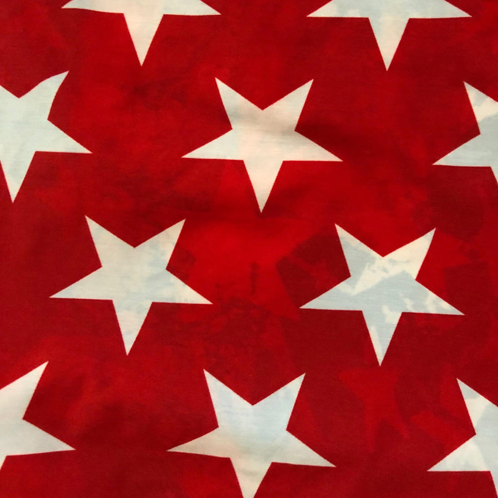 UNISEX LOW RISE BOY SHORTS STARS & STRIPES/RED STARS
