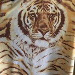 OFF THE SHOULDER REVERSIBLE BROWN TIGER/LEOPARD