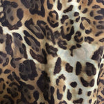 OFF THE SHOULDER TOP BROWN TIGER/LEOPARD