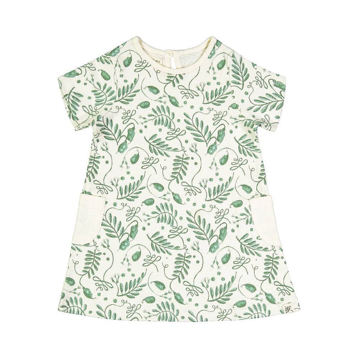 Organic Pocket Dress (Natural Print)