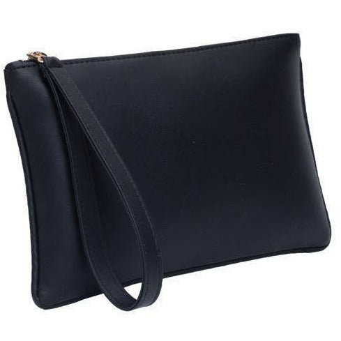 Zipper Pouch Clutch • Onyx
