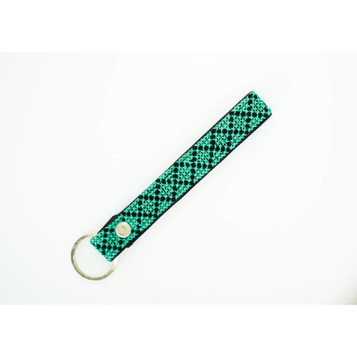 The Teal Leather Key Fob