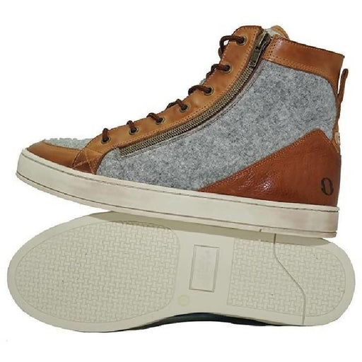 Men's Felted Wool & Leather Mid Top Boot: The Walrus