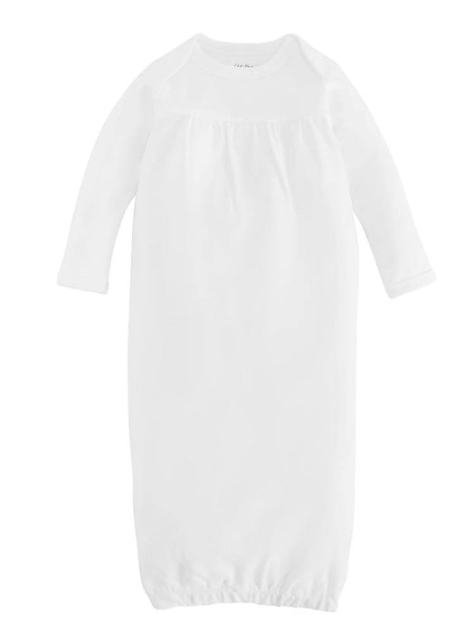 Baby Gown - Organic White Size 0-3m