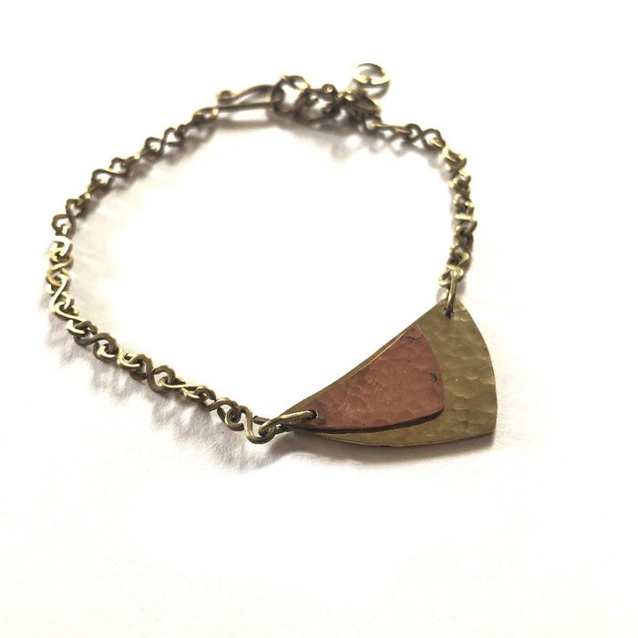 Curved Triangle Bracelet