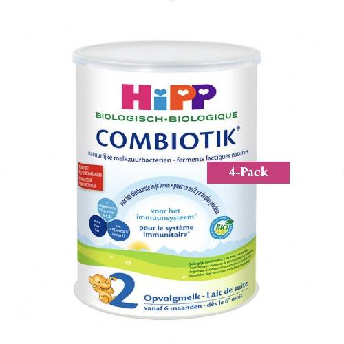 4-Pack HiPP stage 2 (6-12 months) Organic Combiotik Infant Formula Milk (900g/32oz)-Dutch Version  $44.99 EA